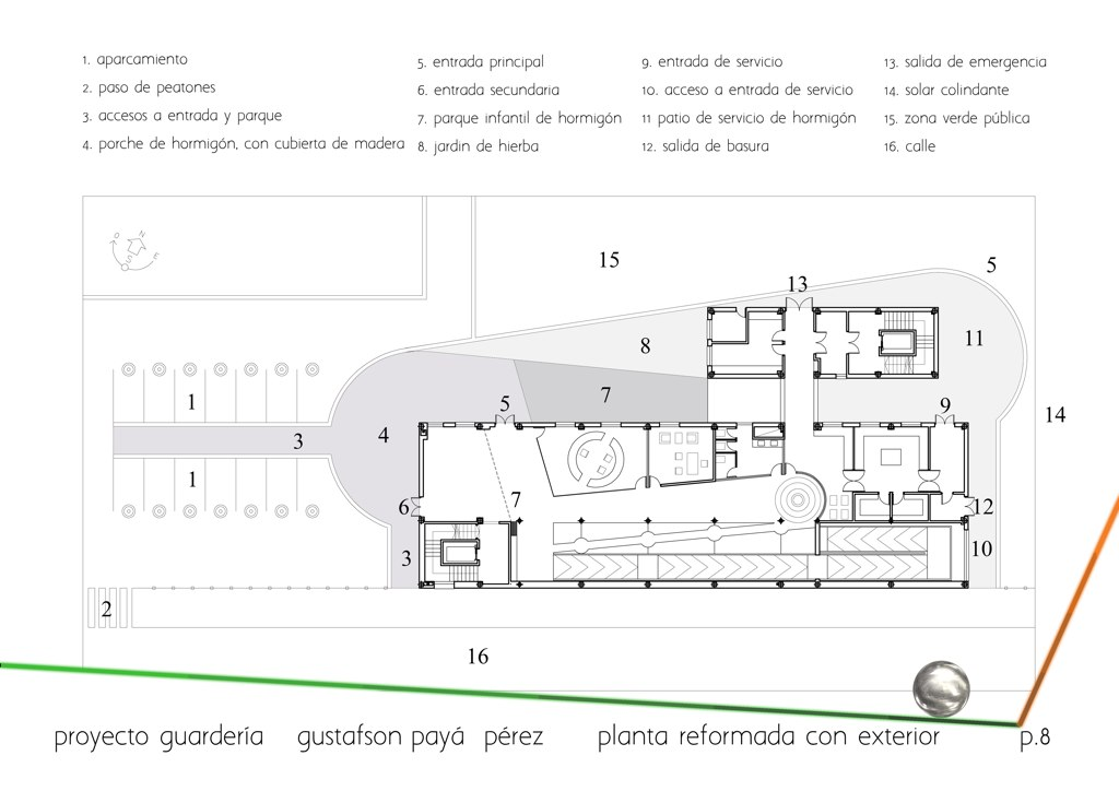 Floor plan exterior (parking, accesses, gardens, etc),