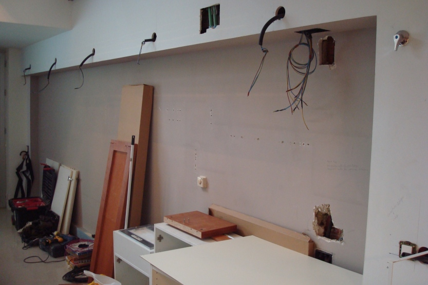 storage before sliding door were put in