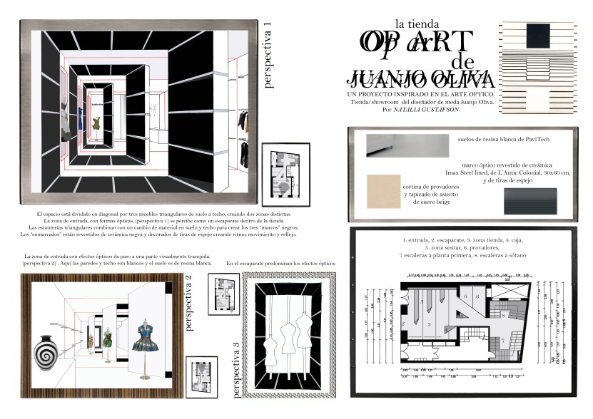 Presentation collage for the boutique of fashion designer Juanjo Oliva